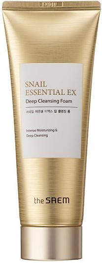 The Saem Snail Essential EX Wrinkle Solution Deep Cleansing Foam Пенка с муцином улитки 150мл в Екатеринбурге