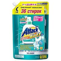 KAO Attack BioEX Gel Био-гель для стирки белья с энзимами (рефил) 1.6кг
