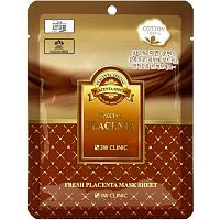 3W Clinic Fresh Placenta Mask Sheet Тканевая маска для лица с экстрактом плаценты 23мл