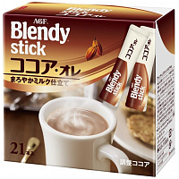 AGF Blendy stick Молочное растворимое какао по 11г 21шт