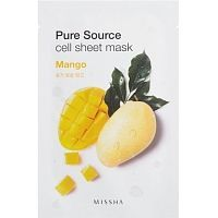 Missha Pure Source Cell Sheet Mask Mango Тканевая маска для лица с манго 1шт