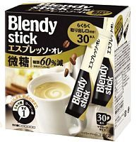 AGF Blendy Stick Coffee - Espresso Lightly Sugared Натуральный растворимый кофе 3-в-1 10г*30шт