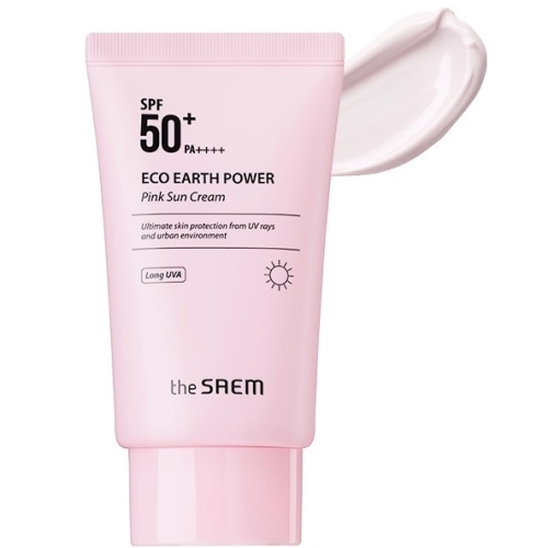 The Saem Eco Earth Power Pink Sun Cream Крем солнцезащитный SPF50+ PA++++ 50г