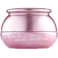 Bergamo Pure Snail Wrinkle Care Cream Крем для лица с муцином улитки 50г
