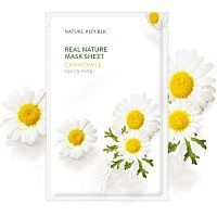 Nature Republic Real Nature Chamomile Mask Sheet Тканевая маска с экстрактом ромашки 23мл