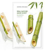 Nature Republic Real Nature Bamboo Mask Sheet Тканевая маска с экстрактом бамбука 23г